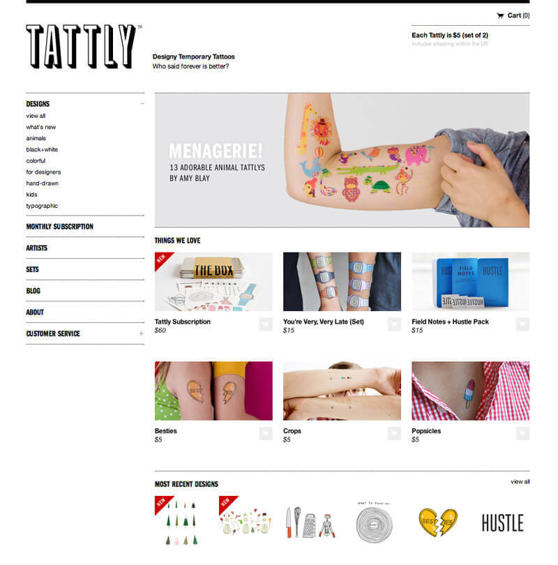 Examples of online shopping websites