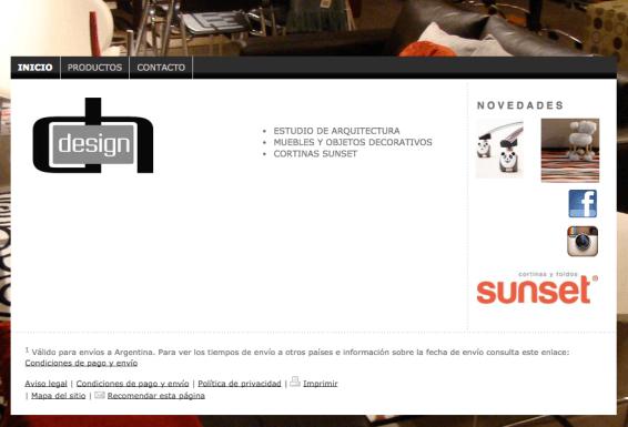 10 ejemplos de p ginas web hechas con creadores web for Paginas de chimentos argentina
