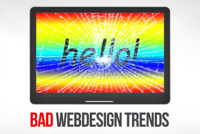 Bad web design trends