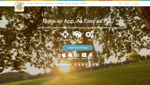 Home page appypie