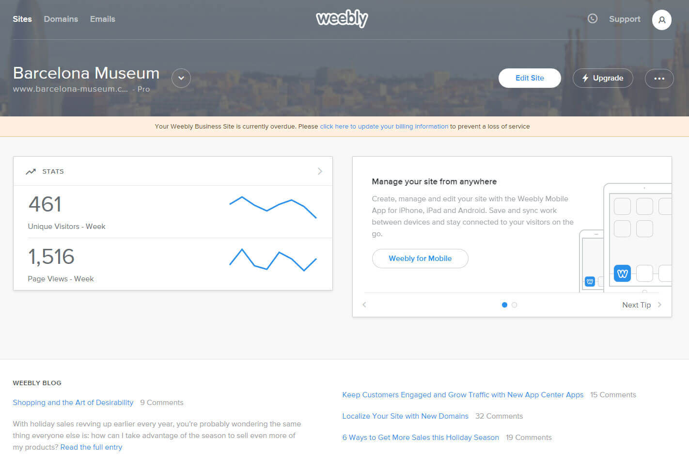 Website builder Weebly warranty express service code