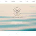 wix yoga template