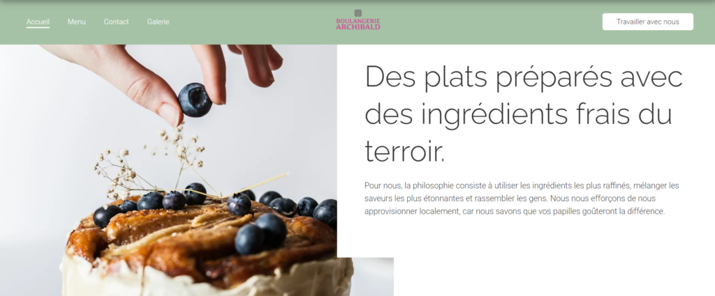 jimdo exemple site web