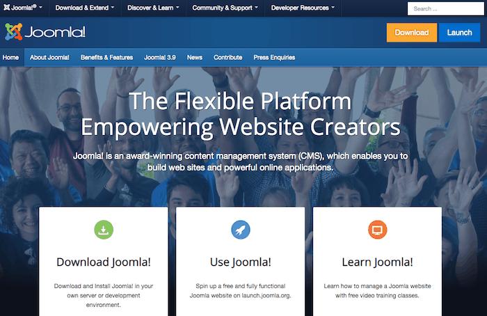 Alternativa a WordPress Joomla