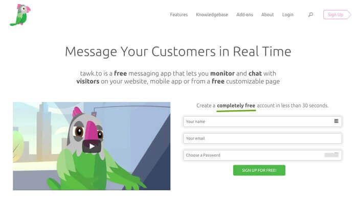 Talk.to live chat software