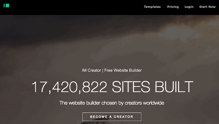 Create a free website with IM Creator is possible