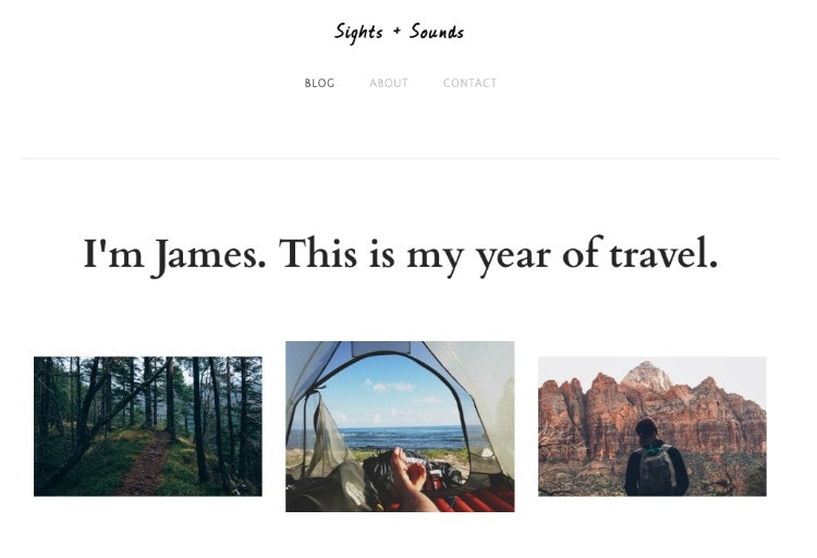 weebly travel blog template