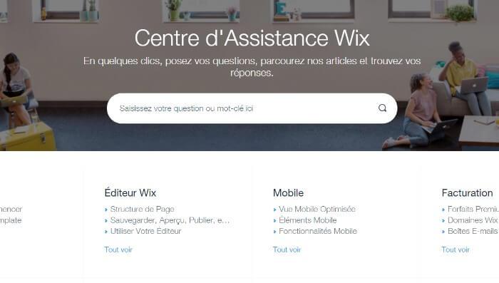 Wix Centre d'Assistance
