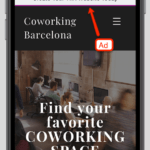wix mobile ad