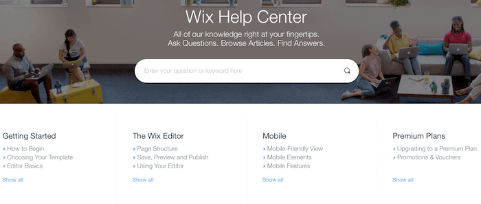 wix support