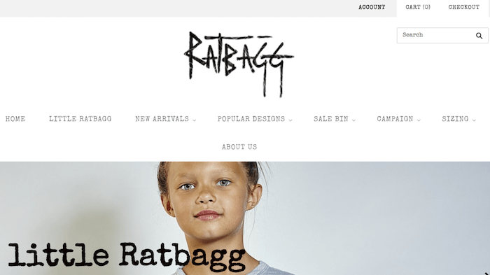 shopify examples rattbag