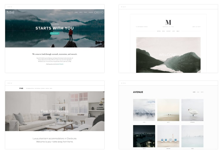 squarespace designs