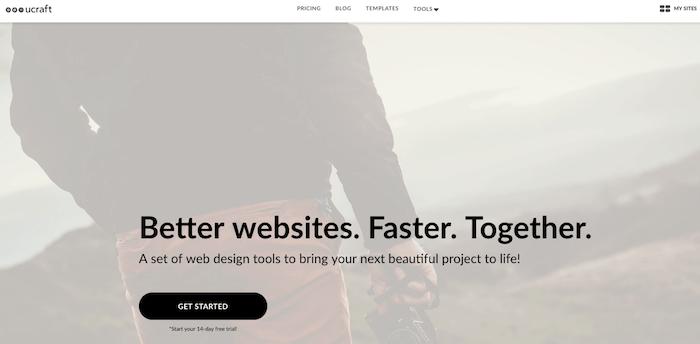 Ucraft unexpensive website builder