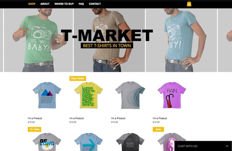 tshirt ecommerce template