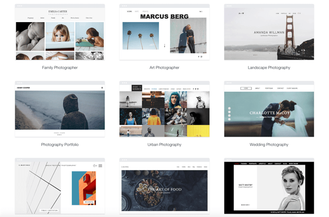 Wix photography website templates