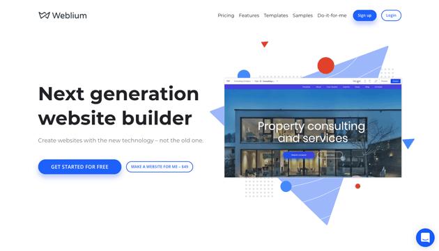 Squarespace alternative Weblium