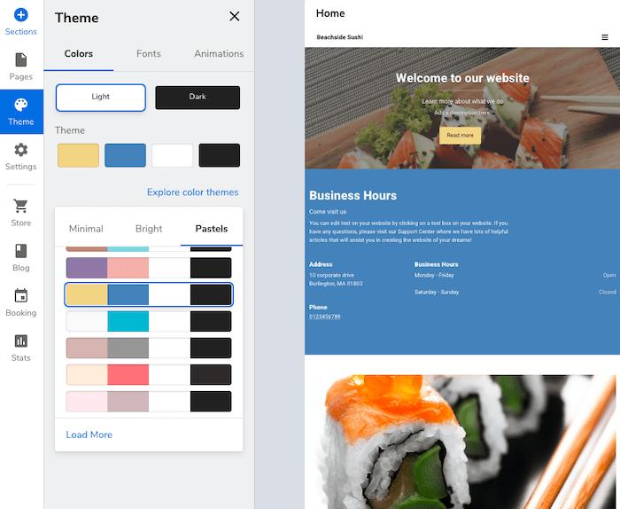 Constant Contact web builder - color change