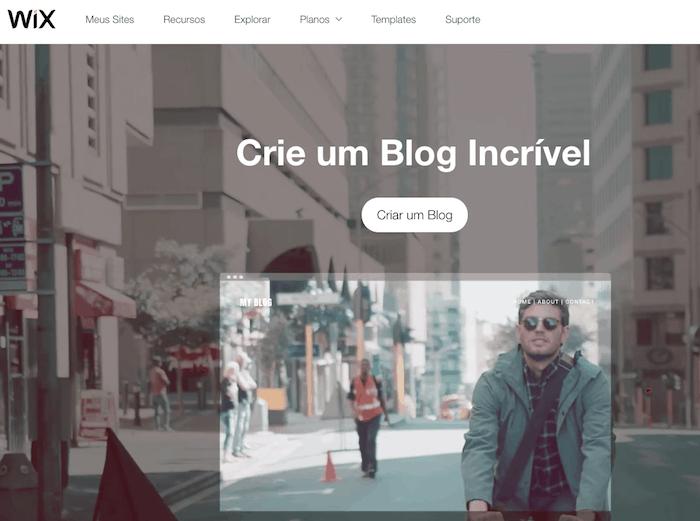 fazer blog gratuito wix