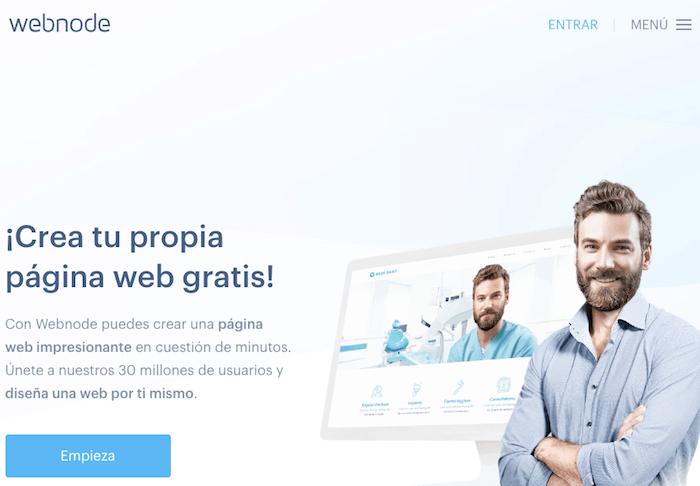 Webnode es una páginas para crear páginas web