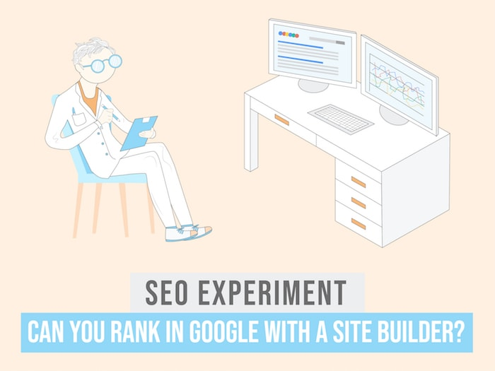 seo experiment site builders in google