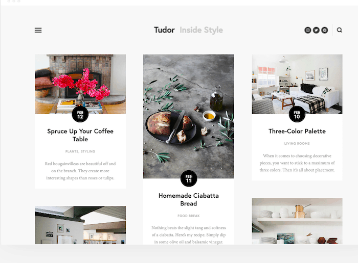 squarespace templates blog tudor