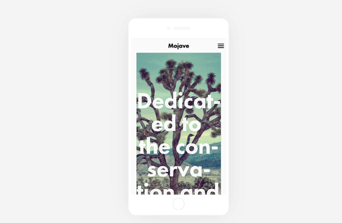 squarespace templates mojave mobile