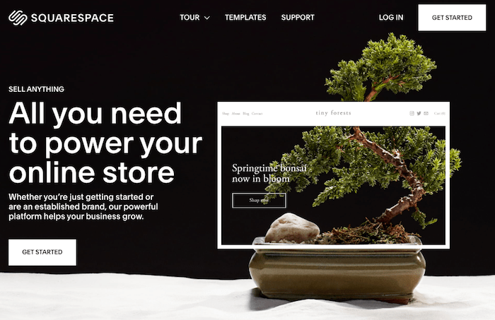 squarespace is a hosted ecommerce platform