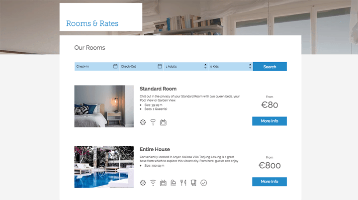 wix hotels rooms