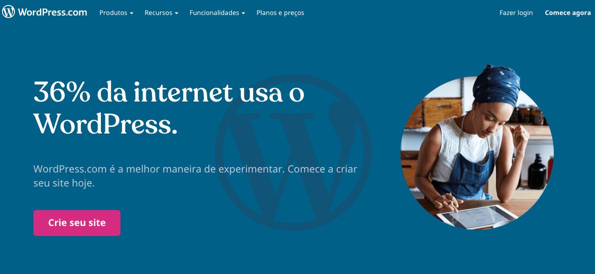 wordpress criador de sites