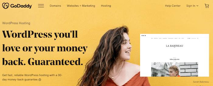 godaddy wordpress hosting prices