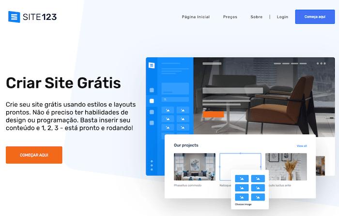 Site123 Criador web